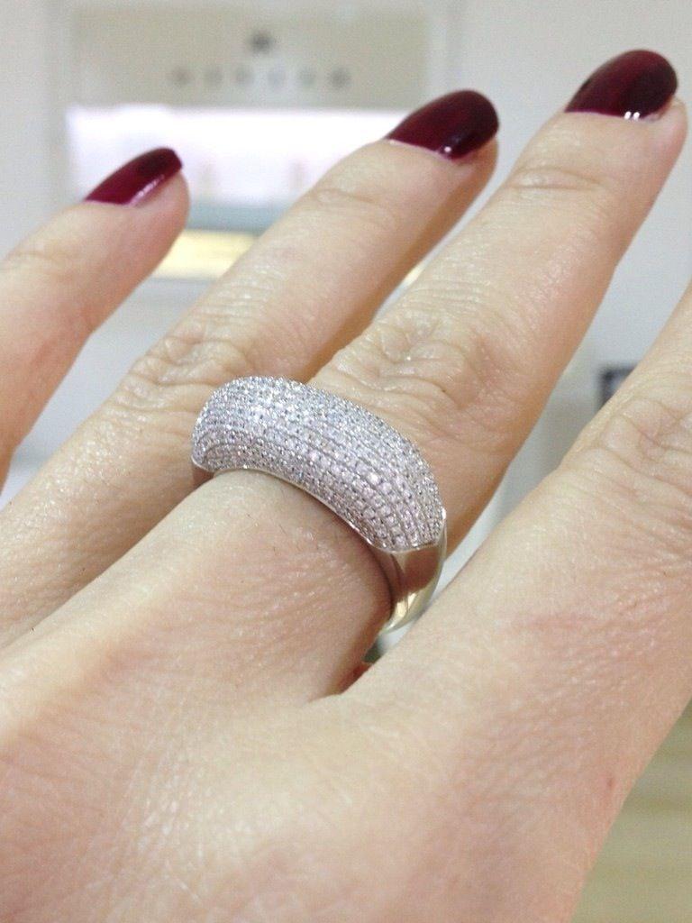 Pavé diamond dress ring by Kalfin Jewellery #kalfinjewellery #diamondrings #pavediamondring #custommadering #diamondringsmelbourne #engagementringsmelbourne #cbdjewellers #handmadejeweller #Melbourne #wholesalejeweller #dress #gown #beautiful #love #picoftheday #fashionbloggers #fashionista  #designerjeweller #weddingbands #weddingrings #nails #colours #jewellermelbourne #girls #happy #diamondjewellery  #couture #luxury www.kalfin.com.au