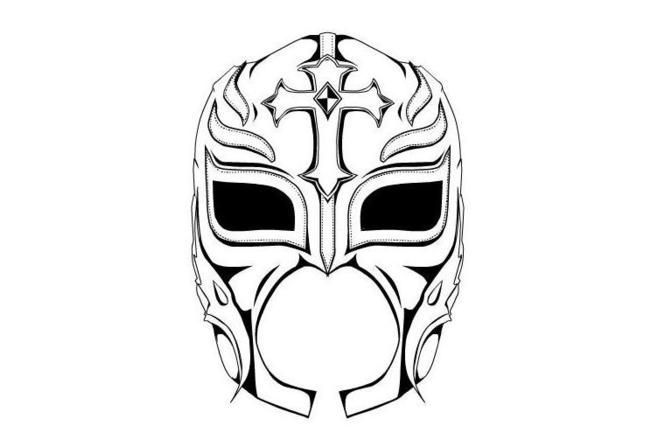 Free printable rey mysterio mask birthdays in 2018 for Wwe rey mysterio mask coloring pages