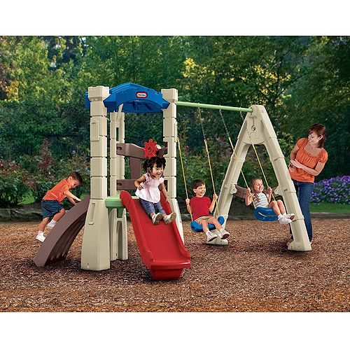 Plastic Outdoor Swing Set | Sign in to see details and ...