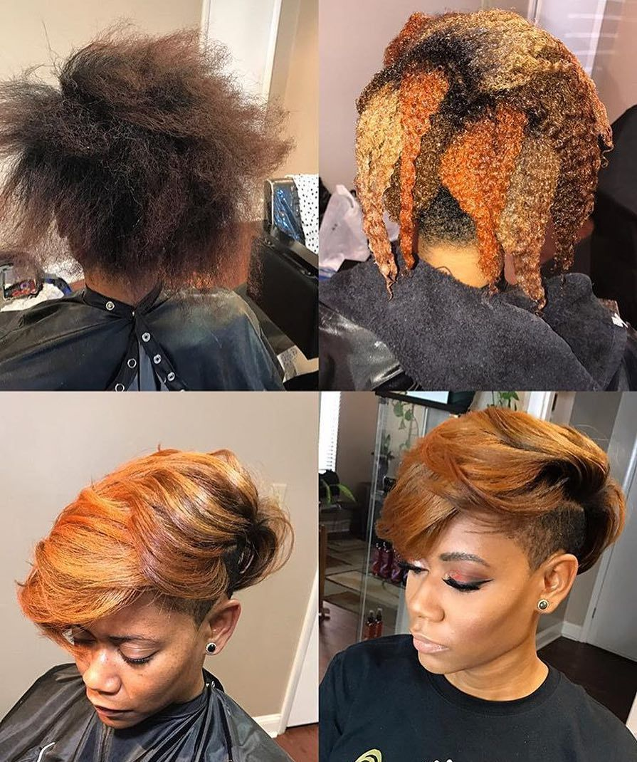 Dope cut and color transformation by dmvstylist hairbyjoya