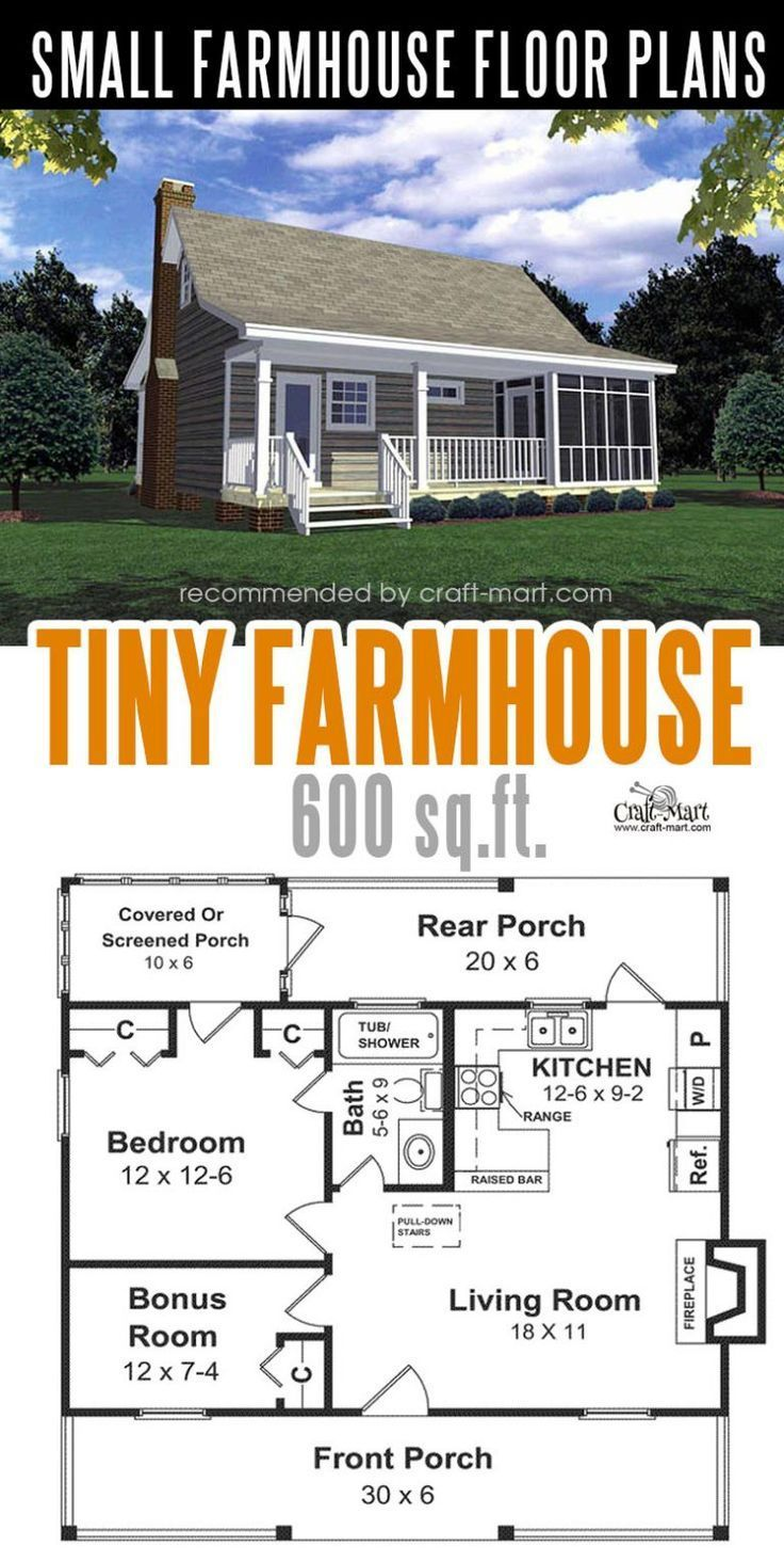 Small modern farmhouse plans for building a home of your for Construye tu casa en 3d