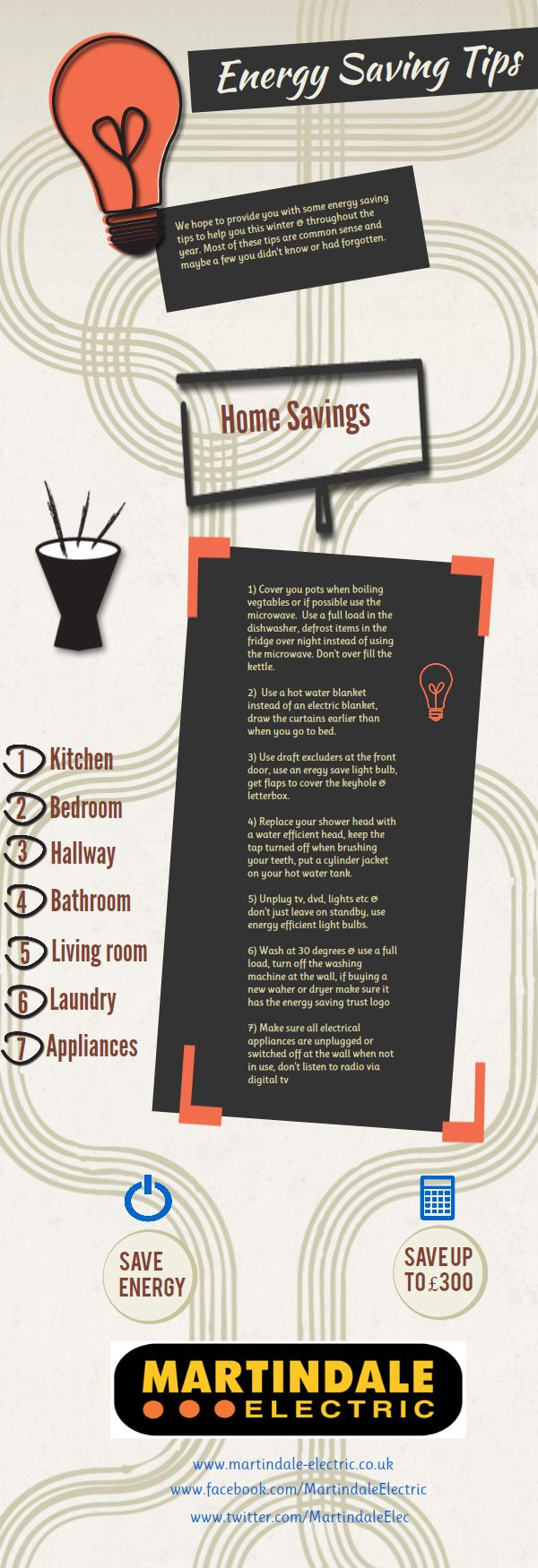 Take a look at some energy saving tips!