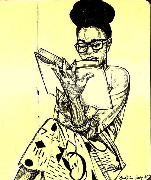 Image result for black girl reading