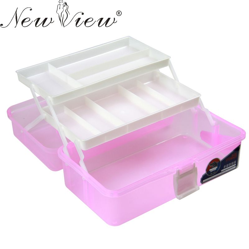 Nail Art Box 3 Layer Multi Utility Storage Case Professional ...