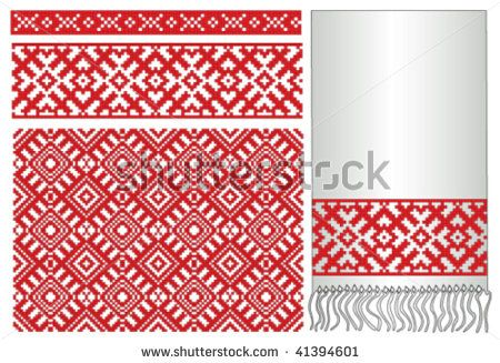 russian embroidery border
