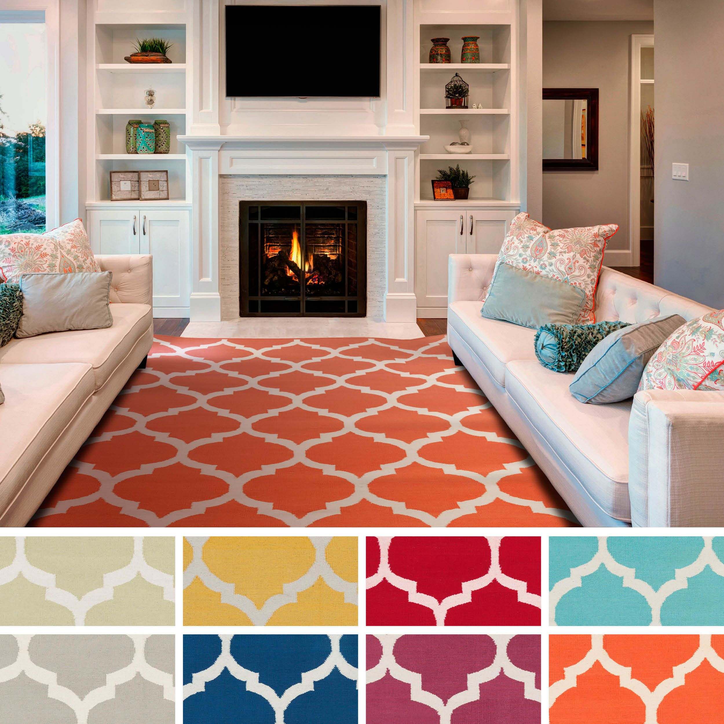 Available In A Variety Of Colors, This Bold Rug Features A