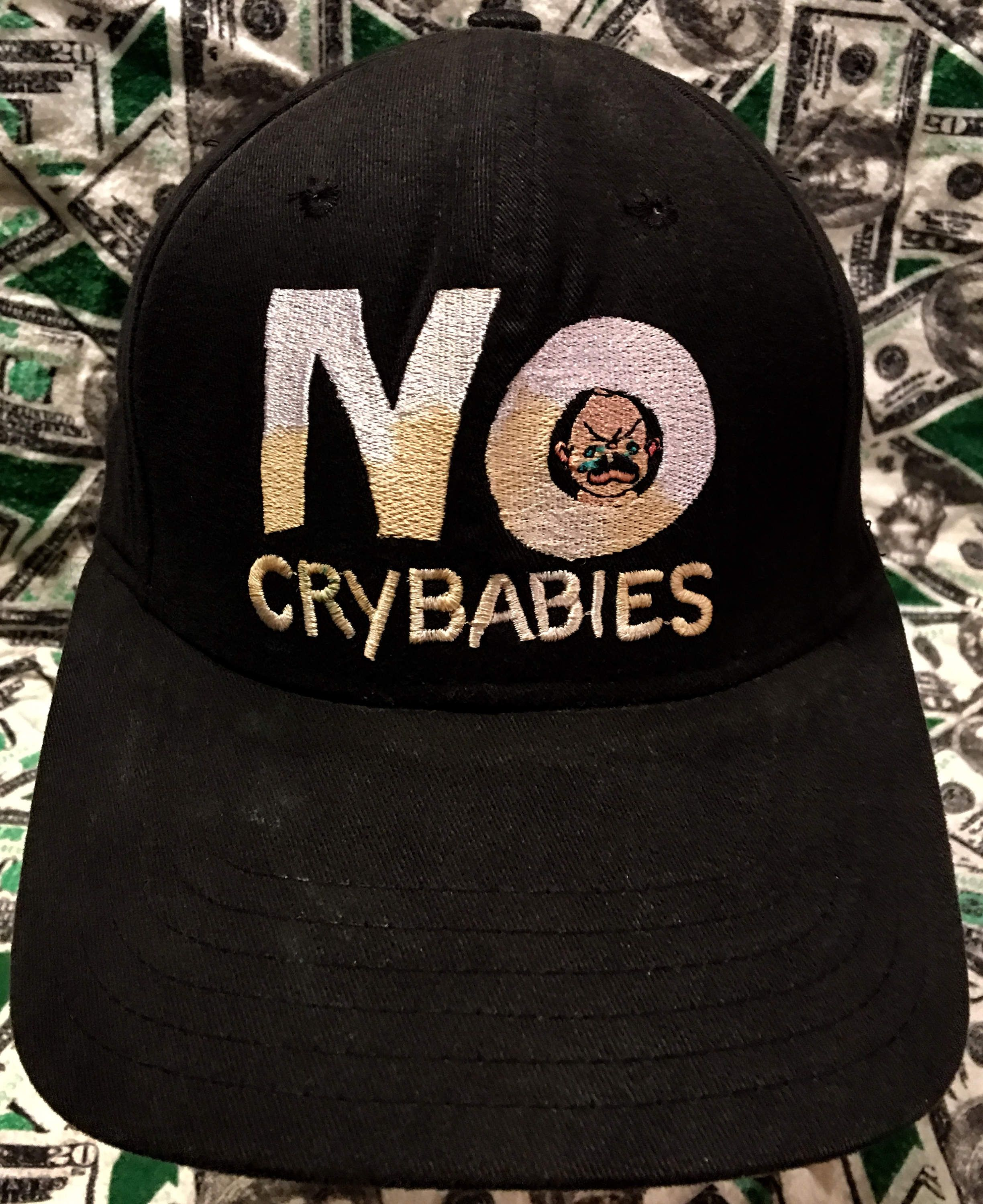 598a0bfc776 Vintage 90 s No Fear No Crybabies Adjustable Snapback Cap by  CoryCranksOutHats on Etsy