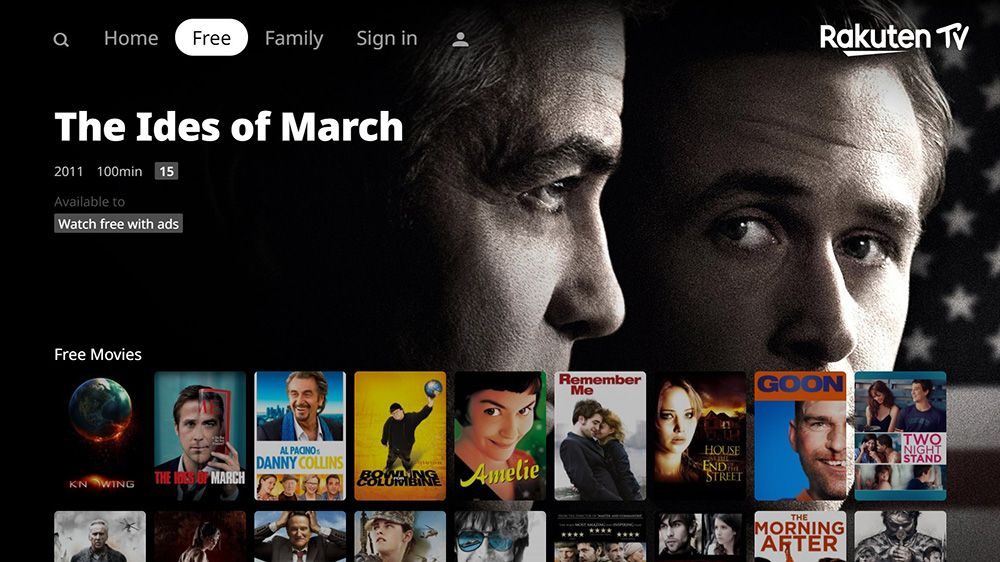 Rakuten TV to offer Hollywood films for free through its