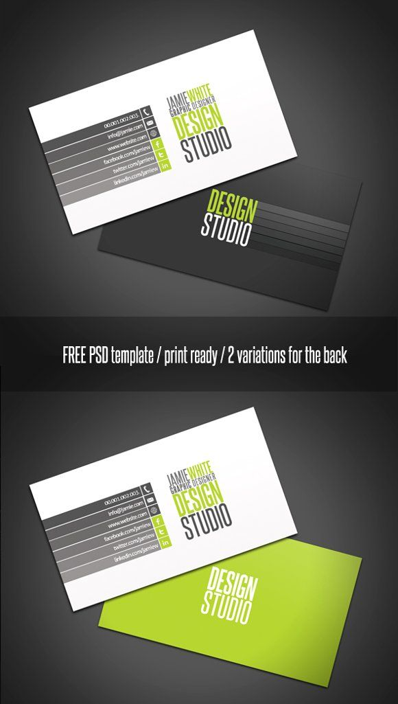 Professional Business Card using two colors.