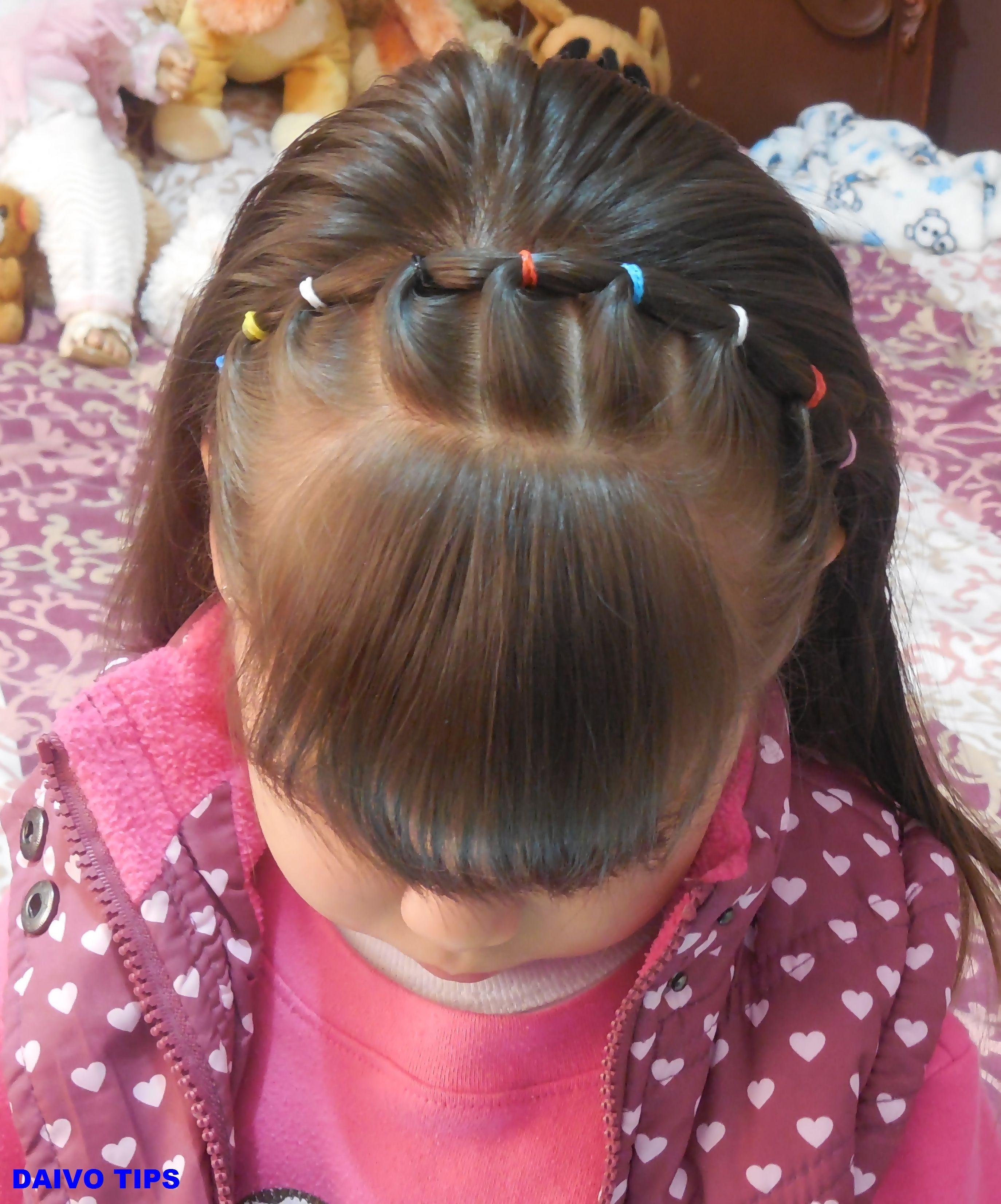 Peinado facil diadema con ligas peinados niñas pinterest hair
