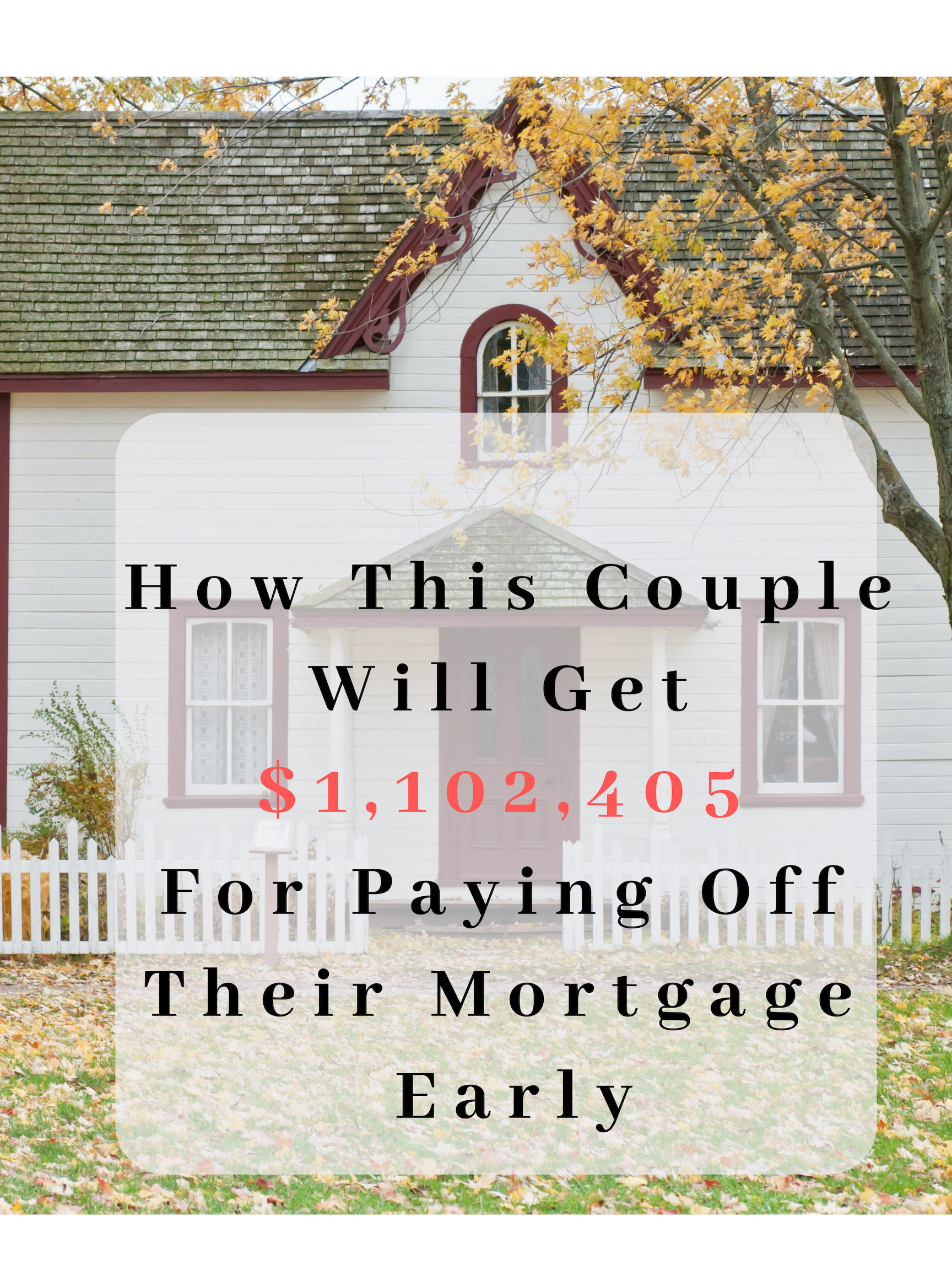 How This Couple Will Get 1 102 405 For Paying Off Their