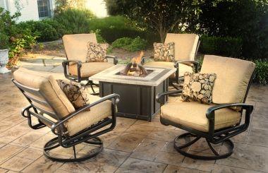 Wondrous Agio Arrington Fire Pit Set Patio Furniture Deep Seating Ibusinesslaw Wood Chair Design Ideas Ibusinesslaworg