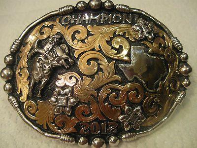Old west Cowboy Belt Buckle with a Horse shoe Saddle Vintage pewter color Nice!