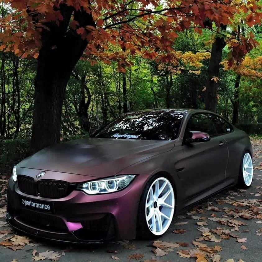 Bmw f82 m4 matte purple noice motors