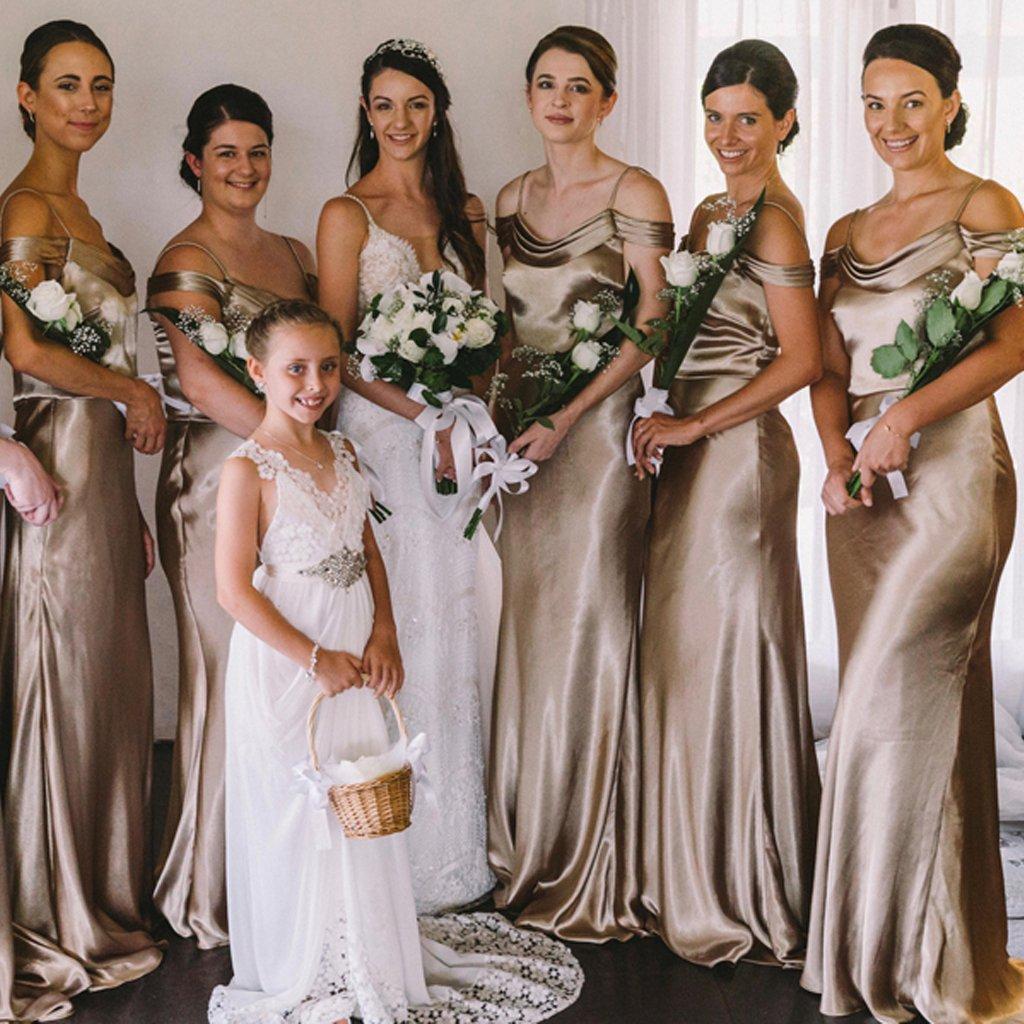Satin Backless Mermaid Bridesmaid Dress