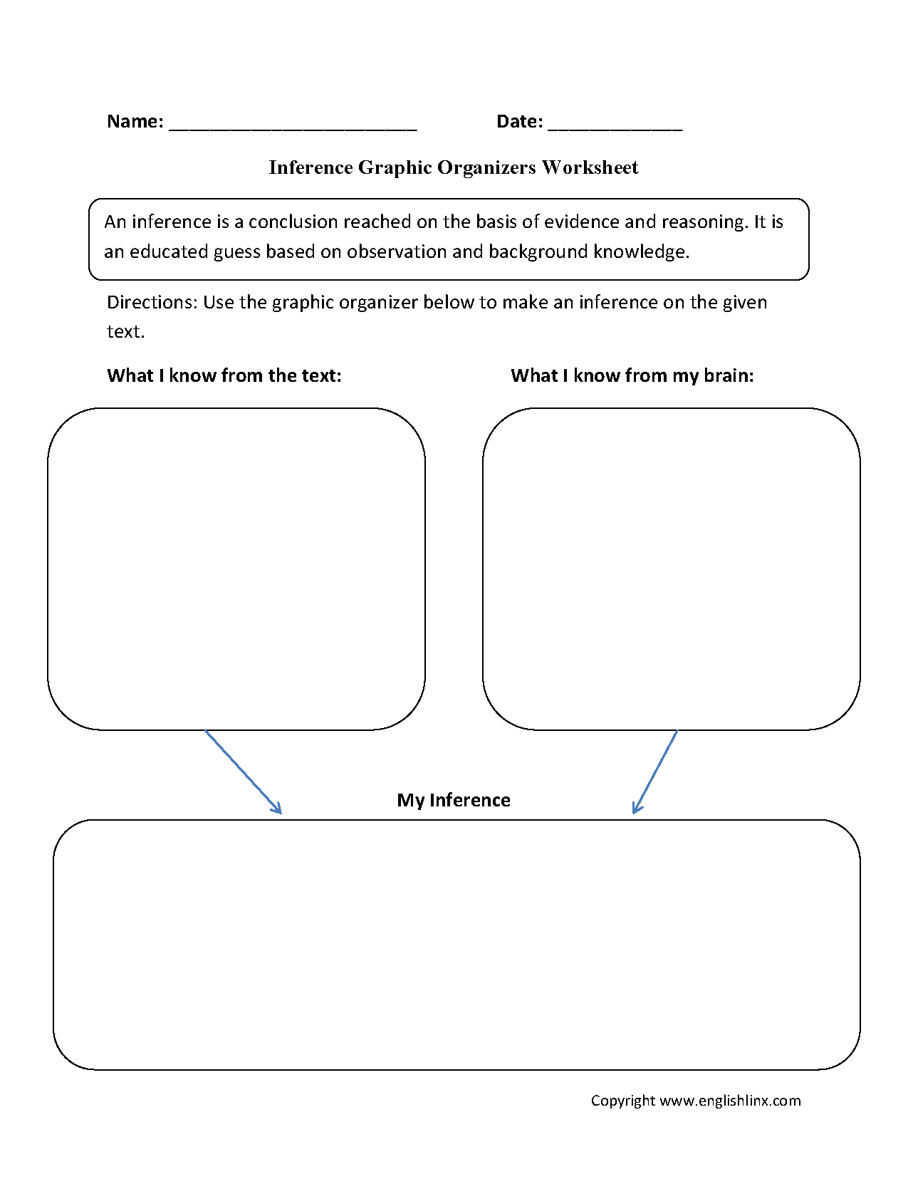 worksheet Drawing Conclusions Worksheets inference graphic organizers worksheets eng writing pinterest these are great for working with use th