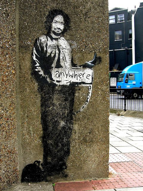 Hitchhiker Anywhere Banksys Charles Manson Hitch Hiker Archway North London