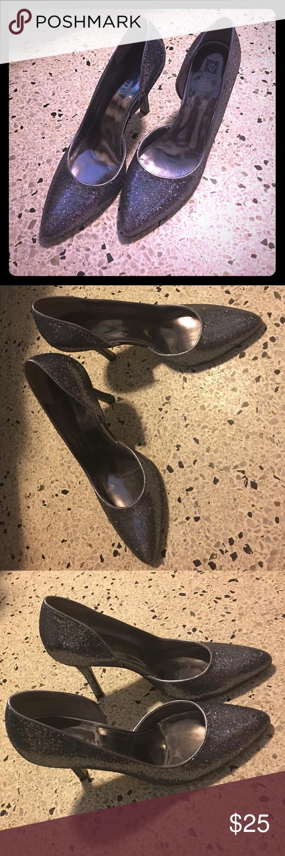 Anne Klein size 10 stilettos Sparkle out of this world stilettos worn twice at banquettes (minimal walking / wear) Anne Klein Shoes Heels