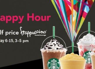 Starbucks Happy Hour 2016 | Half Off Any Frappuccino May 3-15