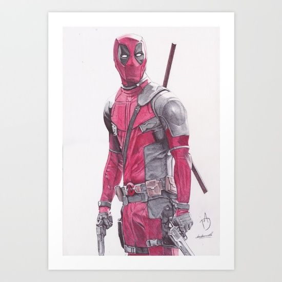 Deadpool Print $20 plus FREE WORLDWIDE SHIPPING TODAY!