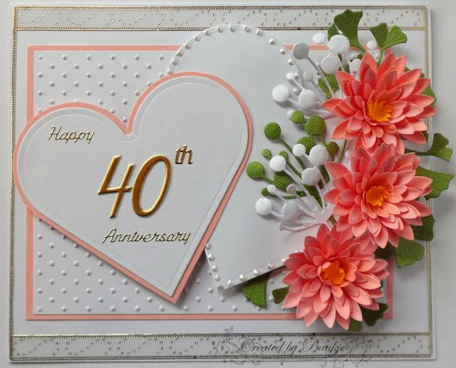 Baukje s cards and crafts th anniversary greeting cards