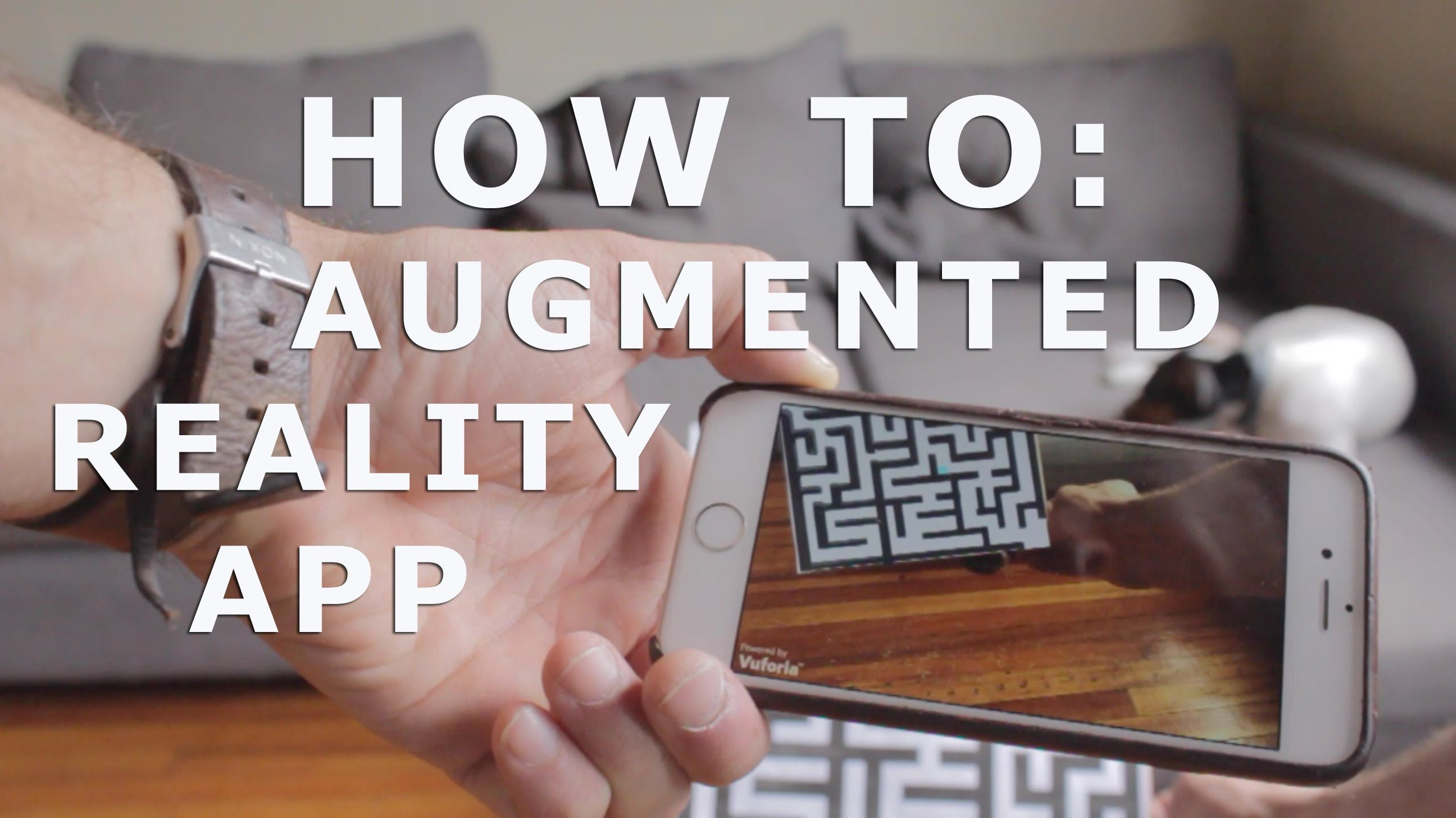 This tutorial shows you how to make an augmented reality app