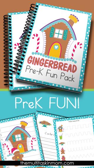 FREEBIE: Gingerbread PreK Fun Pack - Preschool - Kindergarten - Math ...