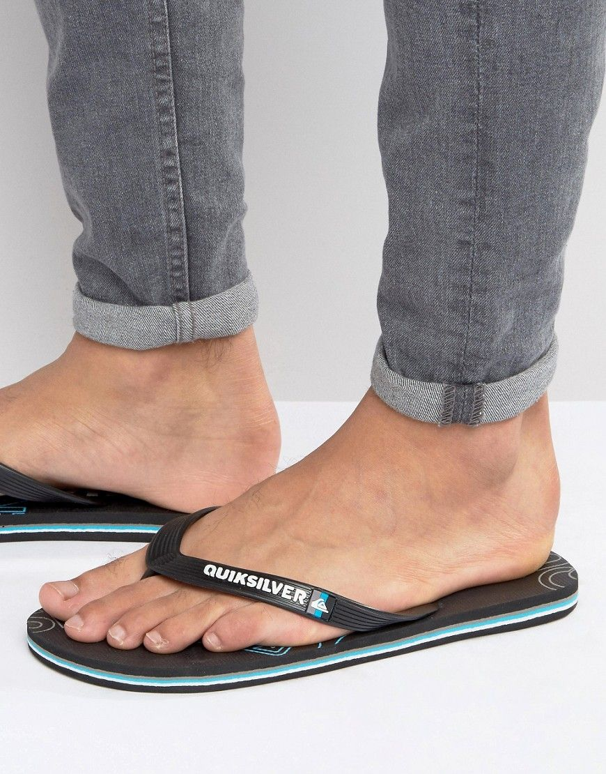 ae0f98b5ad89 Get this Quiksilver s flip flops now! Click for more details. Worldwide  shipping. Quiksilver Molokai Flip Flops - Black  Flip flops by Quiksilver