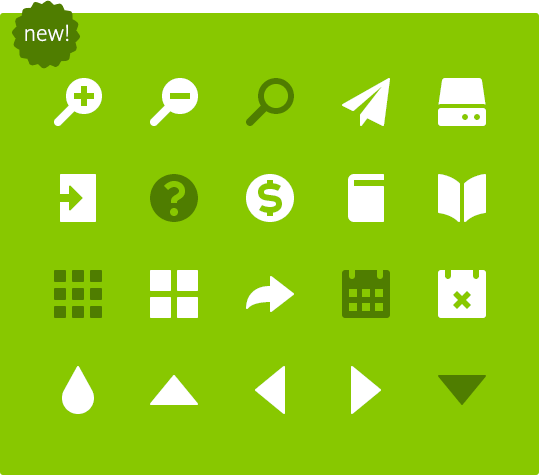 new Symbolset icons