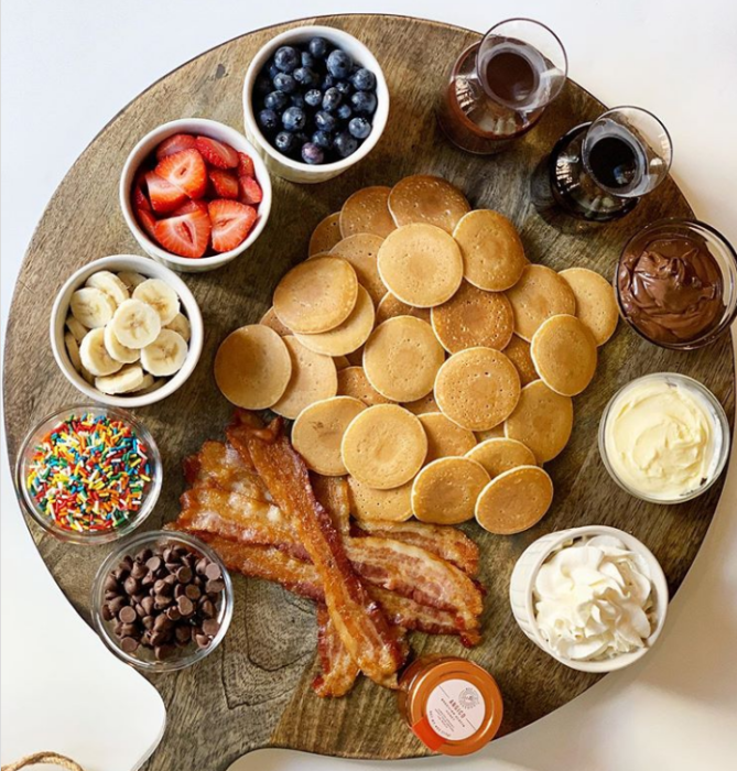 Move Over Cheese Boards, 'Pancake Boards' Are The New Food Trend For Entertaining