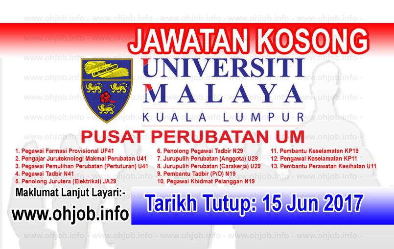 Jawatan Kosong PPUM Pusat Perubatan Universiti Malaya