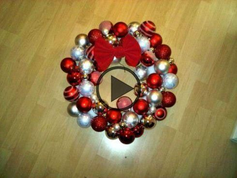 Christmas Crafts: Bauble Wreaths #baublewreath Christmas crafts: bauble wreath #baublewreath