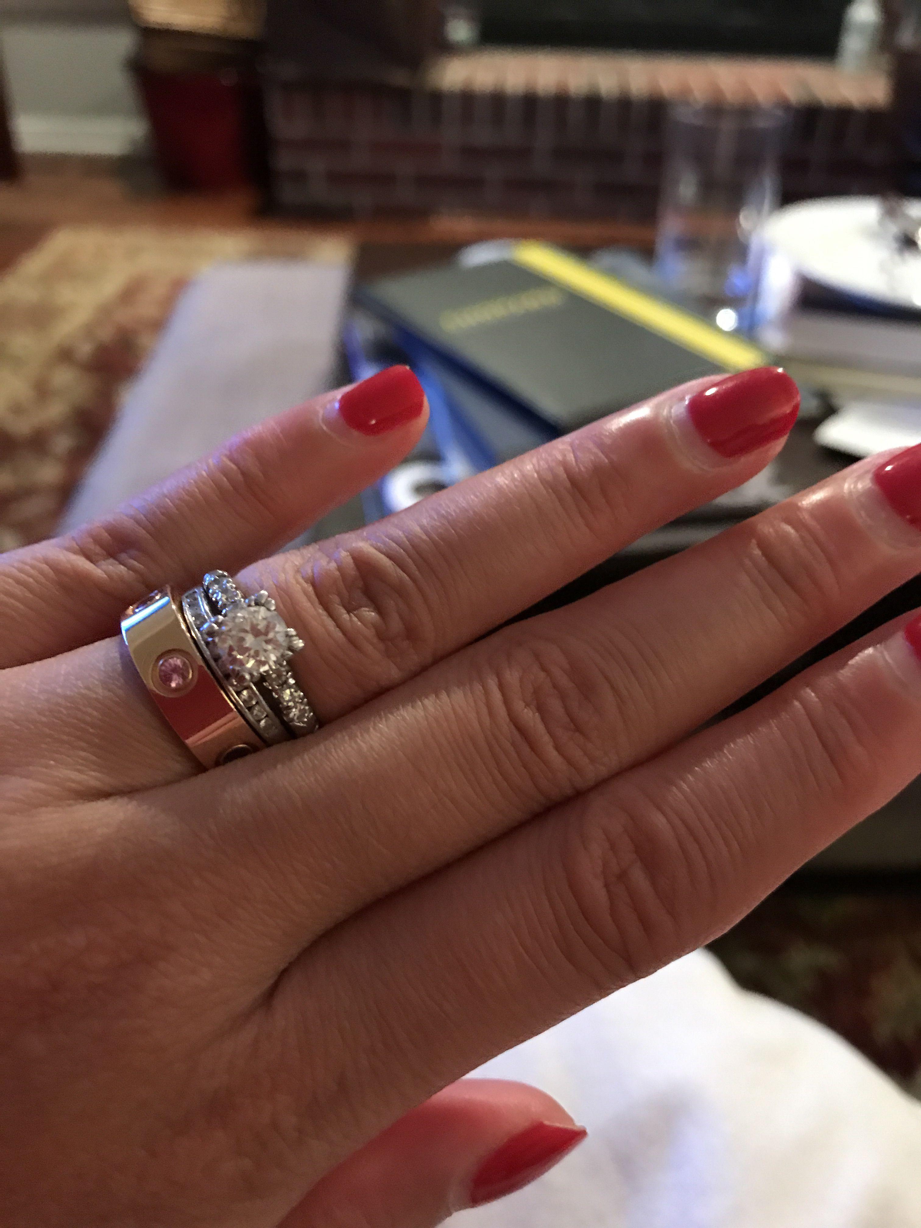 Cartier forever ring stack wedding rings for women