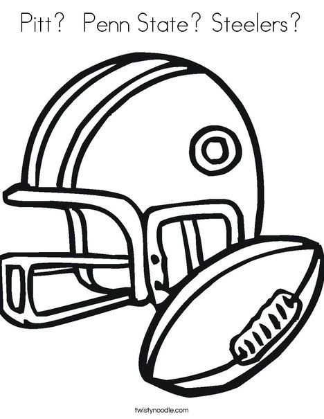 Pitt Penn State Steelers Coloring Page Twisty Noodle Sports