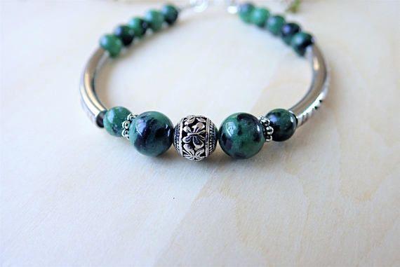 Ruby Zoisite Bracelet Green Gemstone Erfly Nature Jewellery Jewelry