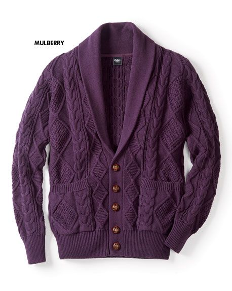 81b2ff794f Cotton Cable Button-through Cardigan