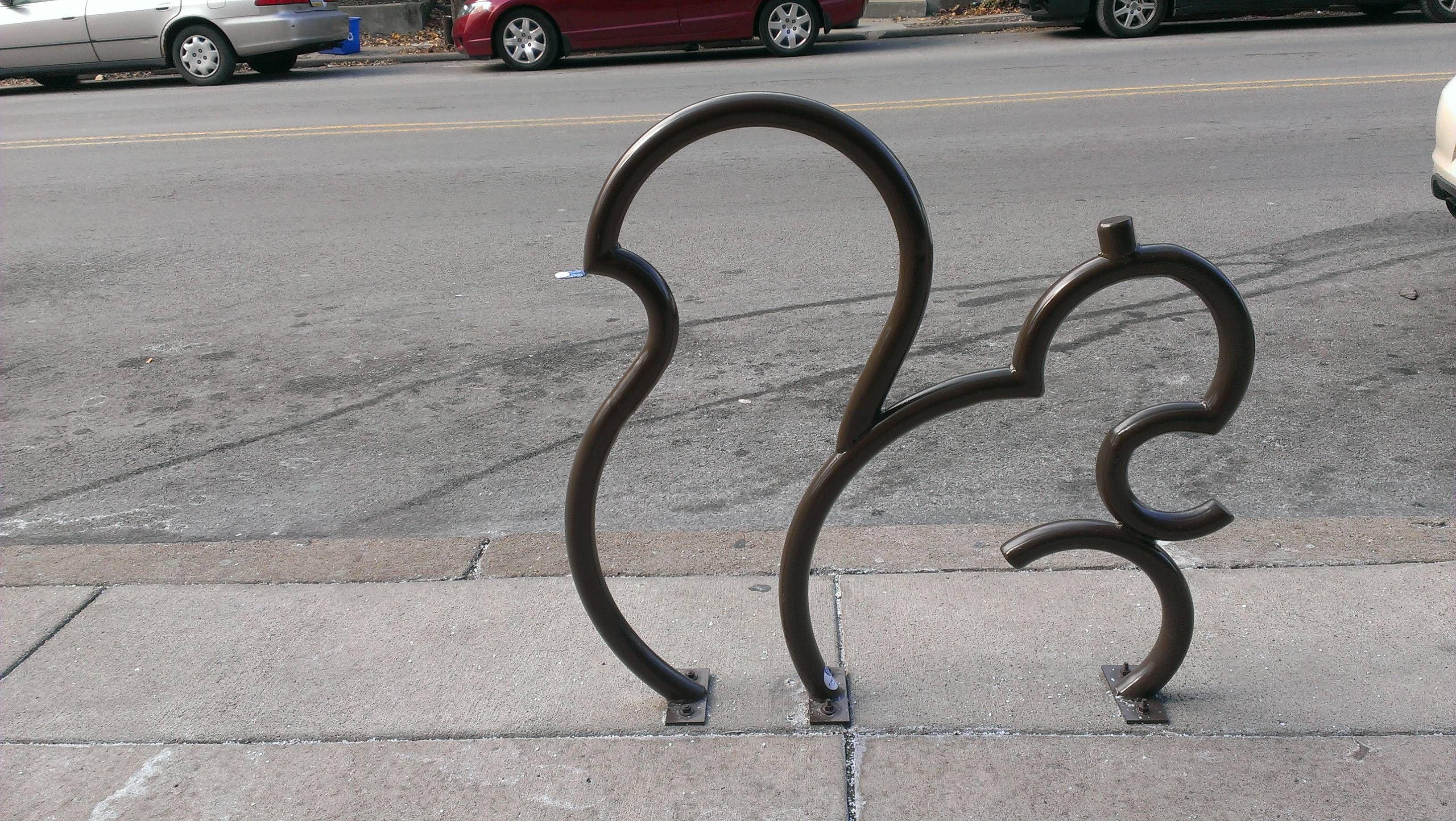 This Bike Rack Looks Like A Squirrel Mildlyinteresting Bike
