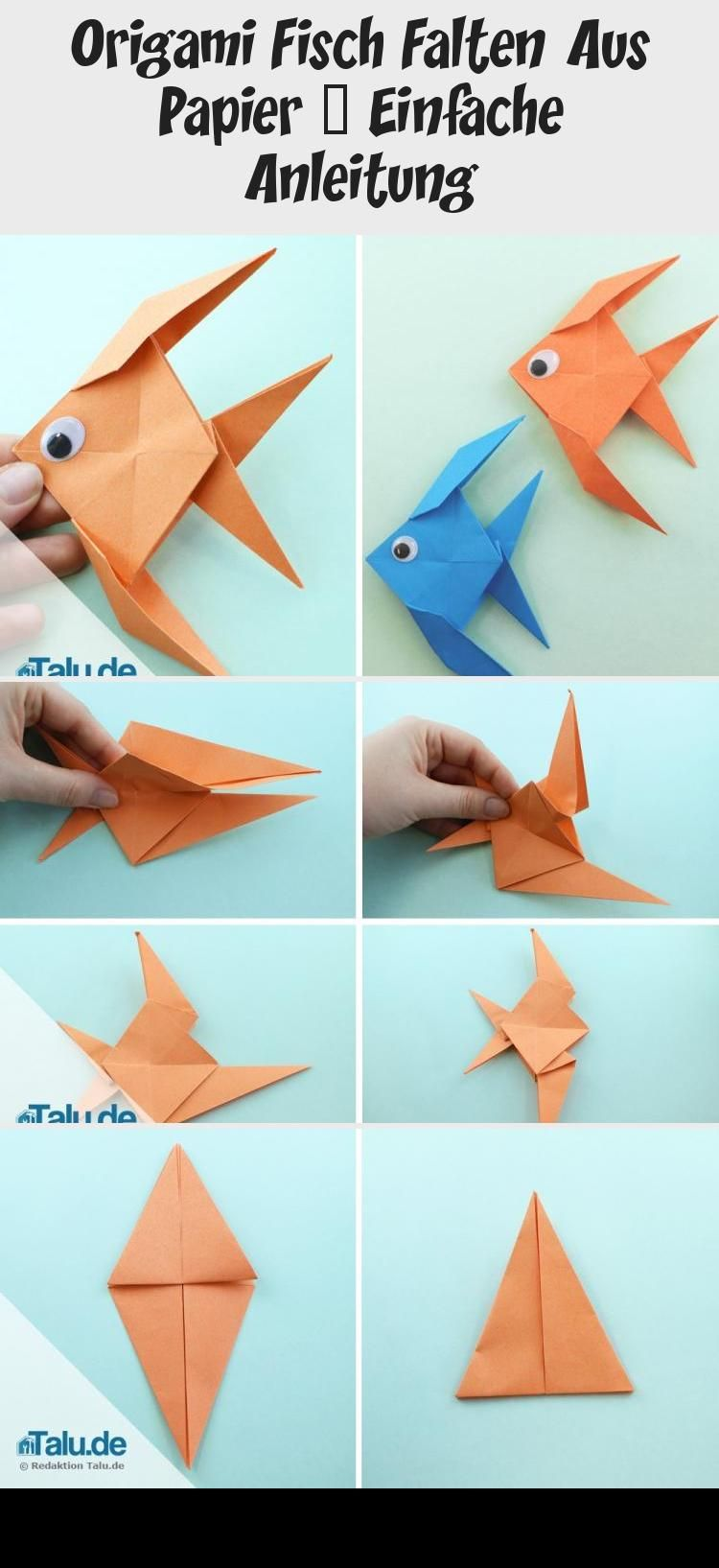 Photo of Kostenlose Anleitung – Origami Fisch falten – Talu.de #origamiPlane #origamiHear…