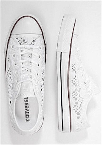 b56983aaa White All Stars. ❄ White All Stars Lace Converse ...