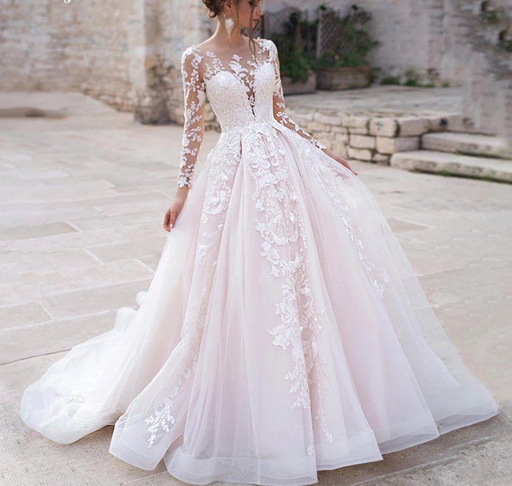 Pin By Charlotte On Wedding Dress In 2021 Wedding Dress Long Sleeve Cheap Wedding Dress Wedding Dresses [ jpg ]
