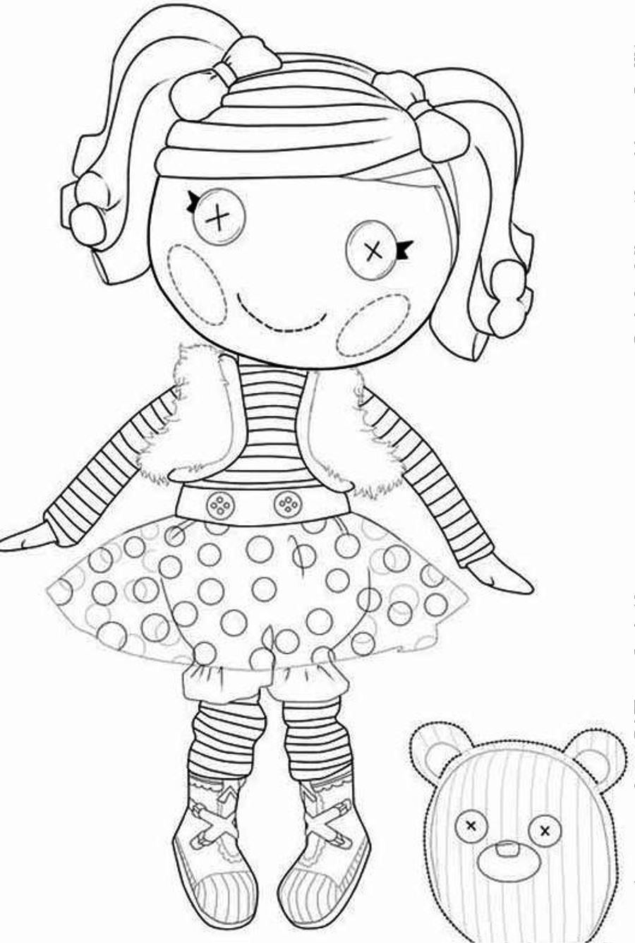 Print or Download Lalaloopsy Free Printable Coloring Pages No 1