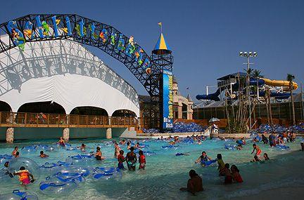 Galveston Beaches Attraction Schlitterbahn Island Waterpark