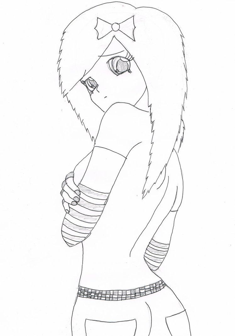 anime coloring pages  how to draw emo girls  lilz.eu