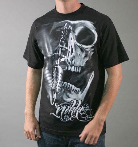 Sullen Nikko Hurtado Tattoo Machine and Skull Tshirt - Vulcinity ...