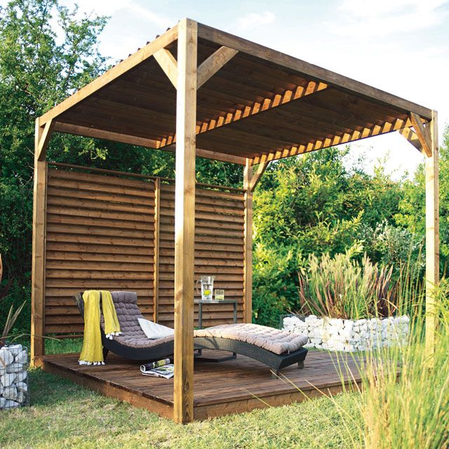 pergola castorama pergola en bois avec toit pare soleil pergola pinterest simple. Black Bedroom Furniture Sets. Home Design Ideas