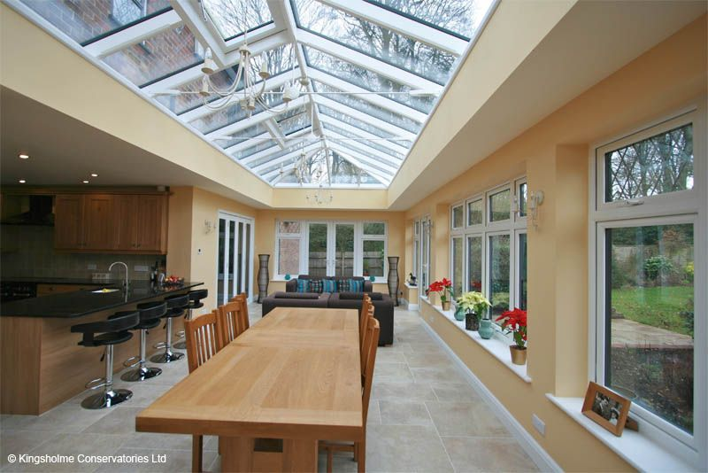 Kingsholme conservatories conservatory orangery for Conservatory kitchen extension ideas
