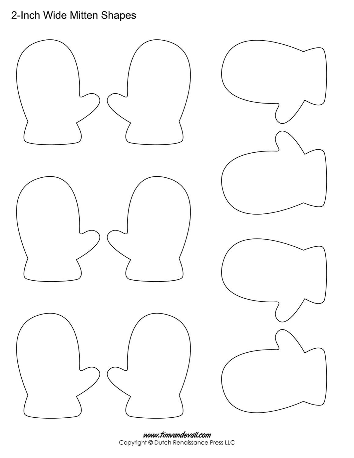 Mitten Shapes For Kids