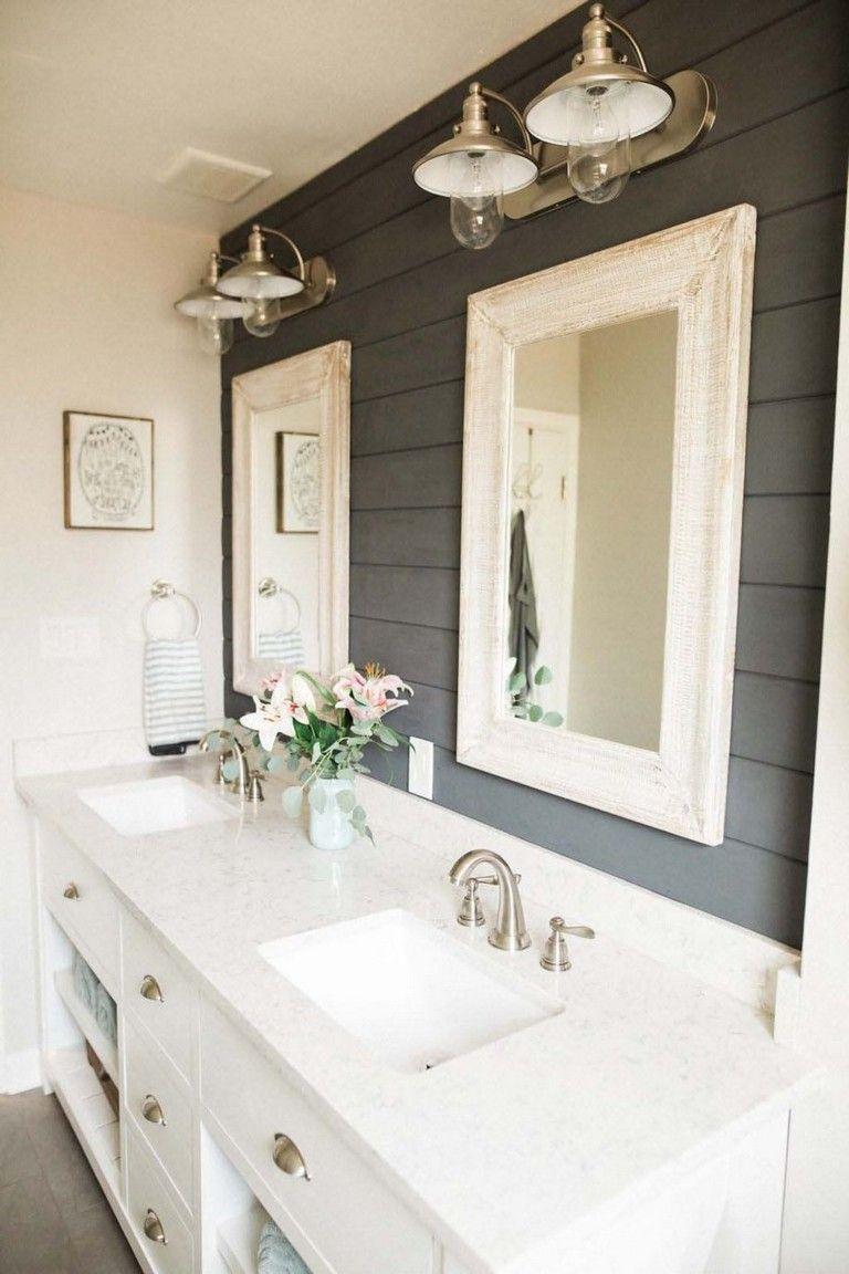 100 Wonderful Farmhouse Bathroom Decor Ideas Rustic Master Bathroom Bathroom Remodel Master Master Bathroom