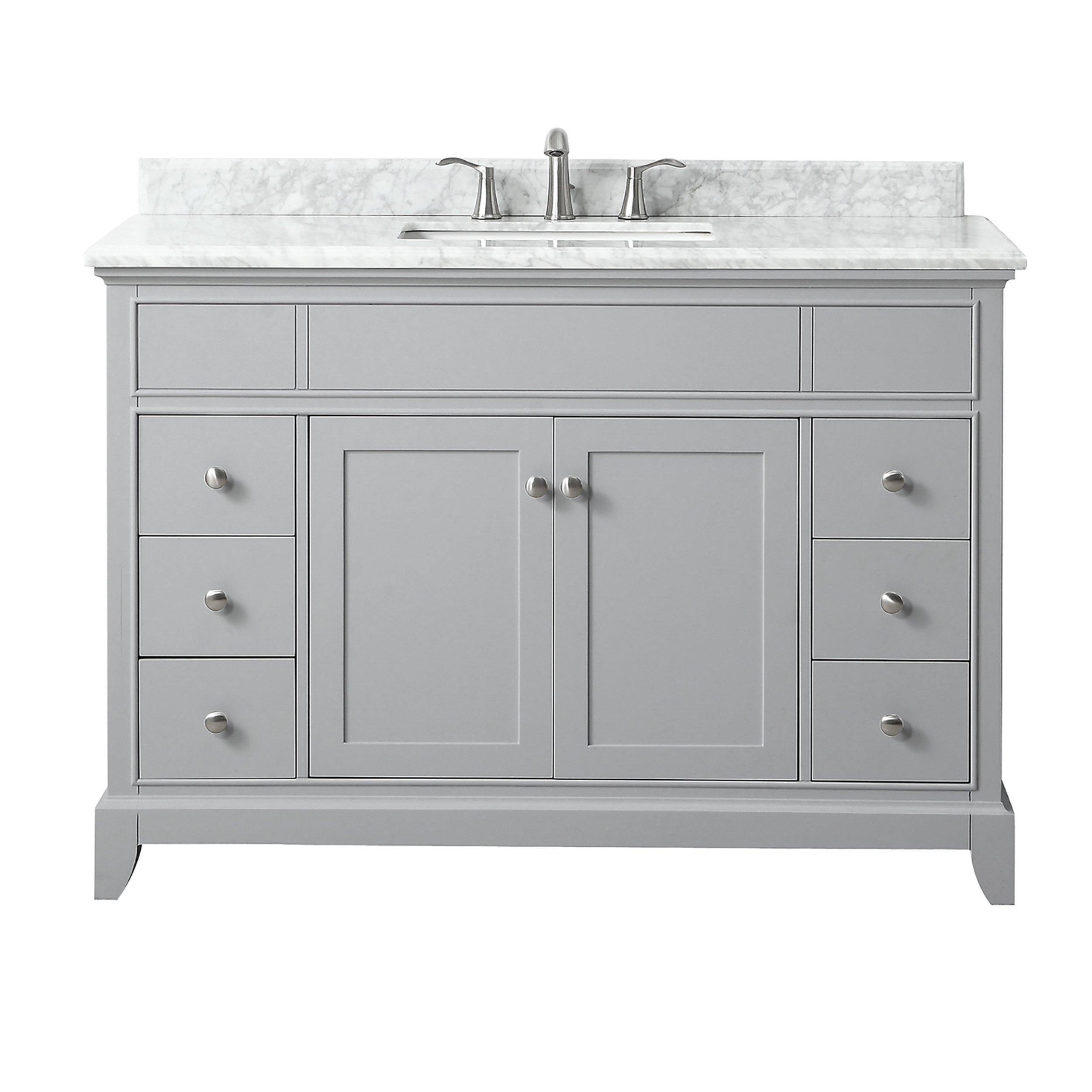 Aurora 49 In Vanity With Carrara Marble Top In 2021 Bathroom Vanity Single Bathroom Vanity Vanity
