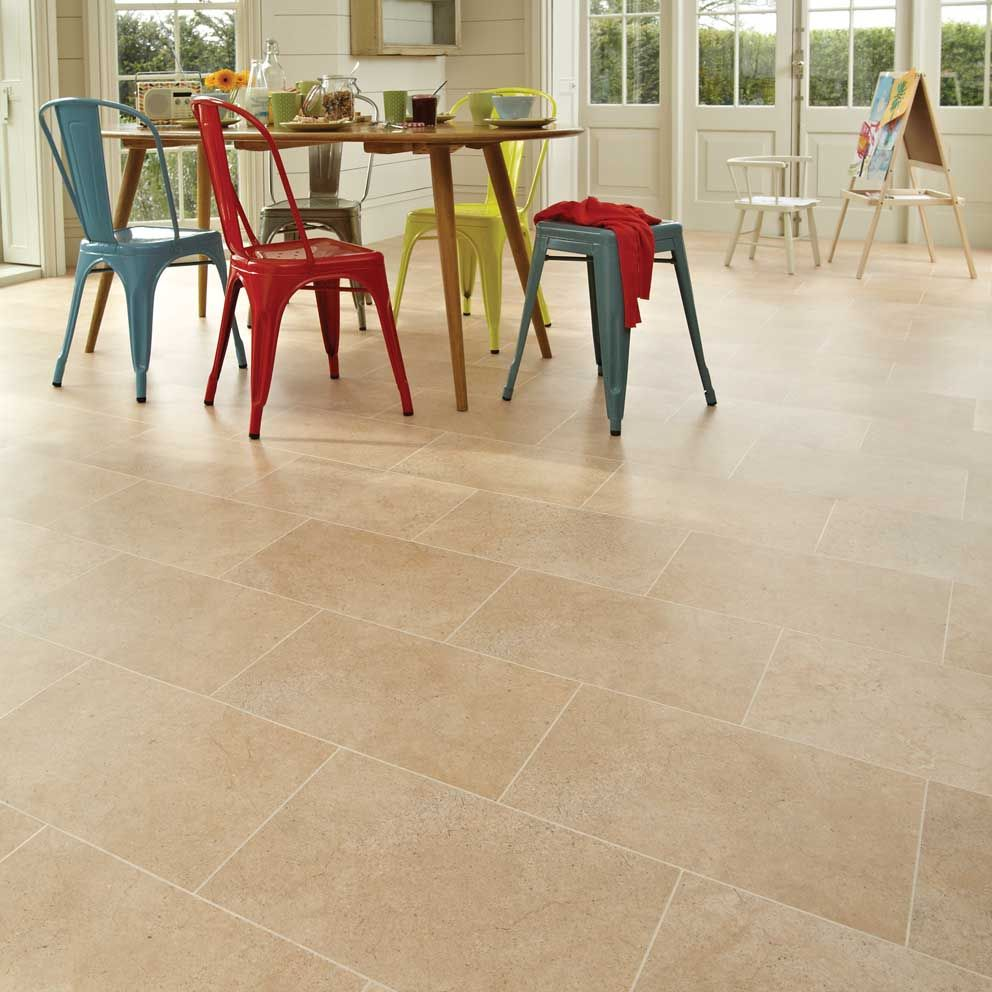 Smart And Stylish Kitchen With Karndean Luxury York Stone Effect Vinyl Floor Tiles York Stone Vinyl Vinyl Flooring Karndean Vinyl Flooring York Stone